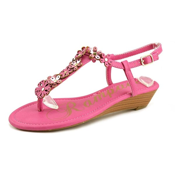 Rampage Sondy Women Open Toe Synthetic Pink Wedge Sandal