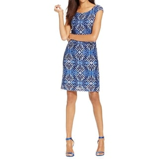 Connected Apparel Womens Casual Dress Knit Printed