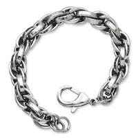 Stainless Steel Polished Oval Link 8.5in Bracelet