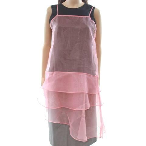 Free Press Sheer Ruffled Tiered Women's Large Tunic Top