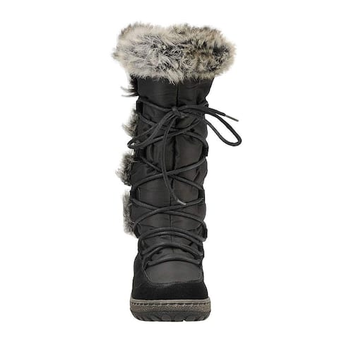 Wanderlust Womens Helina Suede Closed Toe Mid-Calf Cold Weather Boots