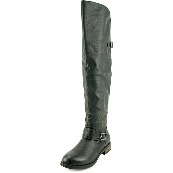 Restricted Playcheck Women Round Toe Synthetic Over the Knee Boot