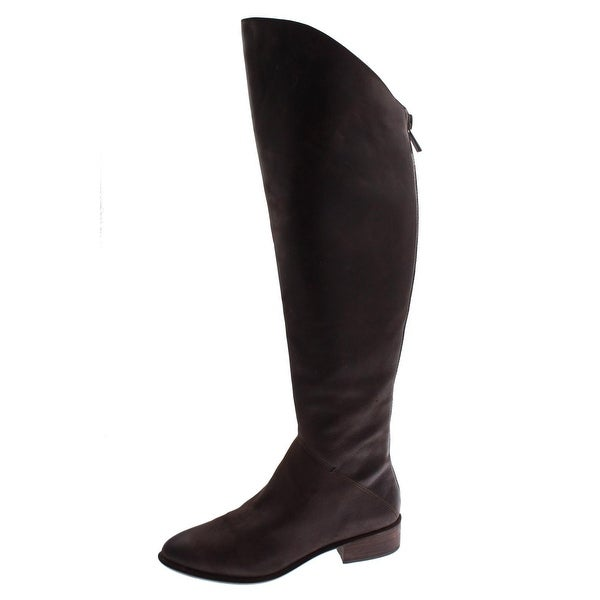 Dolce Vita Womens Meris Over-The-Knee Boots Leather Distressed