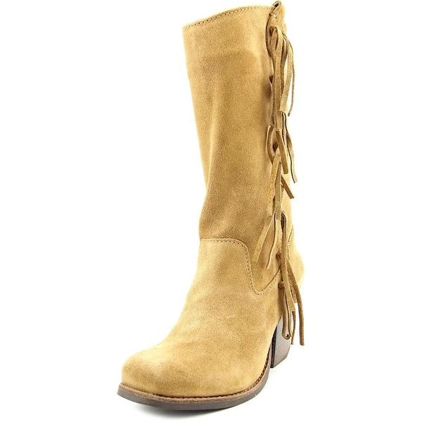 Matisse El Paso Women Square Toe Suede Tan Mid Calf Boot