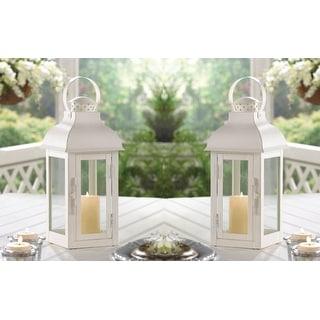 2 Terrace Medium White Lanterns