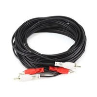 Monoprice 25ft RCA Two-Channel Male-Male Cable - Red/White