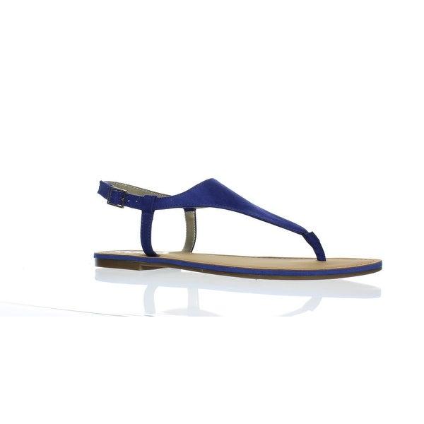 e4e46bba2e62 Circus by Sam Edelman Womens Bianca Nautical Blue Ankle Strap Flats Size 8