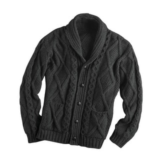 Men's Aran Shawl Collar Cable Knit Cardigan Sweater|https://ak1.ostkcdn.com/images/products/is/images/direct/045ca20bddcb6cc43d1602c404f1a53d6e365362/Unisex-Adult-Aran-Shawl-Collar-Cable-Knit-Cardigan-Sweater.jpg?impolicy=medium