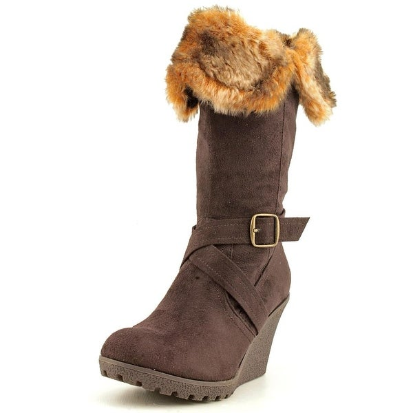 XOXO Olivia Womens Chocolate Brown Boots
