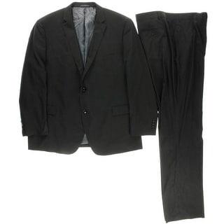 Perry Ellis Portfolio Mens Checkered 2PC Two-Button Suit - 50R