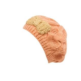 Metallic Thread Knit Beret