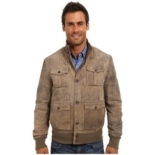 Stetson Western Jacket Mens Lamb Distressed Brown 11-097-0539-0704 BR