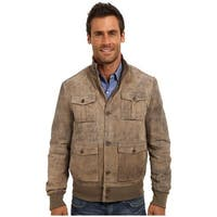 Stetson Western Jacket Mens Lamb Distressed Brown - XL