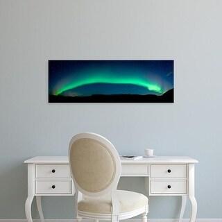 Easy Art Prints Panoramic Images's 'Aurora Borealis or Northern Lights, Vik I Myrdal, Iceland' Premium Canvas Art