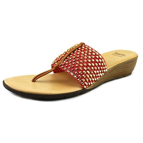 Andre Assous Nima   Open Toe Canvas  Thong Sandal