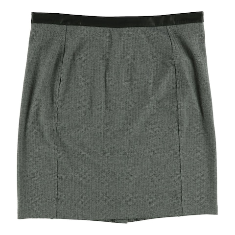 Ralph Lauren Womens Herrigbone Pencil Skirt, Grey, XX-Large
