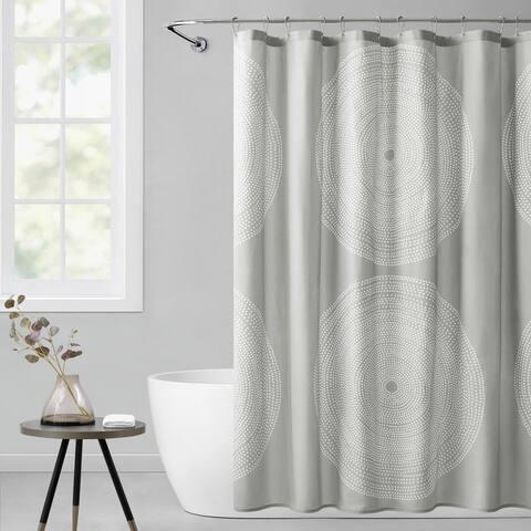 Marimekko Fokus Cotton Grey Shower Curtain