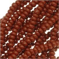 Czech Seed Beads 11/0 Warm Brown Opaque (1 Hank)