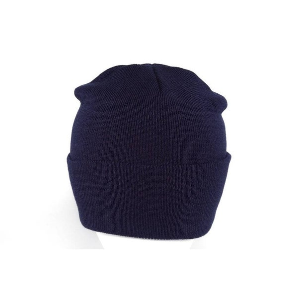 b586f2d1acc Shop Long Knit Beanie Ski Cap Hat in Navy Blue - Free Shipping On Orders  Over  45 - Overstock - 16948417