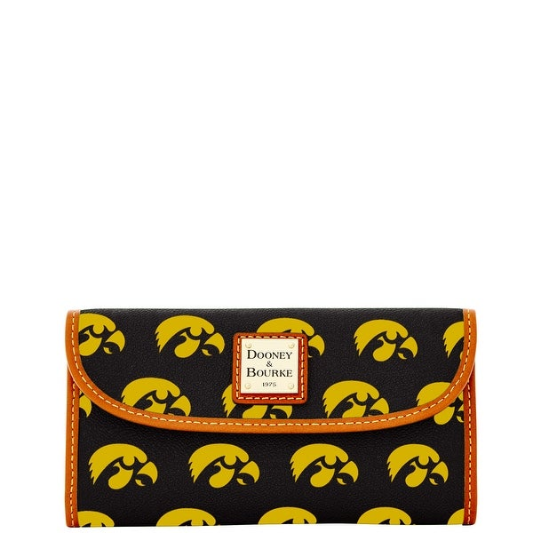 Dooney & Bourke NCAA Iowa Continental Clutch (Introduced by Dooney & Bourke at $128 in Jul 2015) - Black