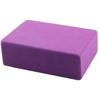 Foam Rectangle Shaped Fitness Exercise Workout Training Yoga Block Brick Purple