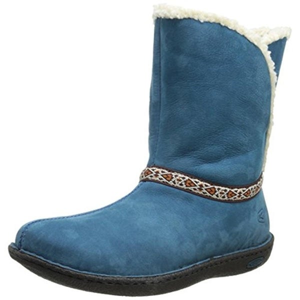 Keen Womens Galena Winter Boots Leather Faux Fur