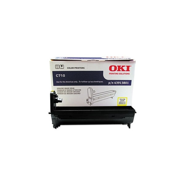 OKI Drum Unit - Yellow 43913801 Oki Yellow Image Drum For C710 Series Printers - 30000 Page - 1 Pack