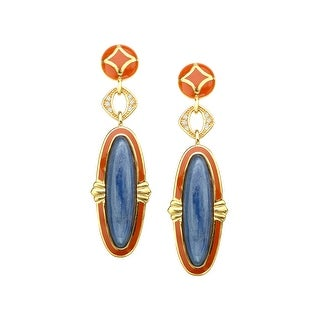 Cristina Sabatini Kyanite Vogue Earrings in 14K Gold-Plated Sterling Silver