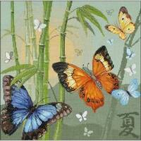 """13.75""""X13.75"""" 14 Count - Butterflies Counted Cross Stitch Kit"""