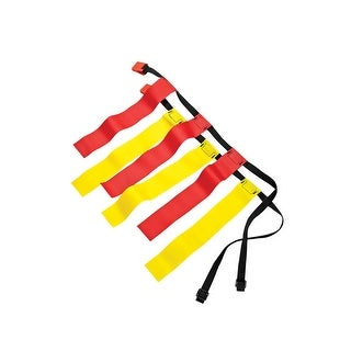 Sportime Medium Flag Football Belts, Set of 12, Red/Yellow