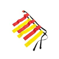 Sportime Small Flag Football Belts, Red and Yellow, Set of 12