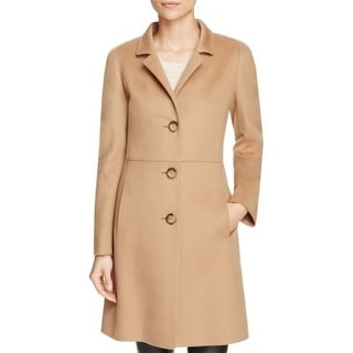 af7efe05607 Shop Cinzia Rocca Women s Wool Classic Coat in Light Brown Size 10 - Free  Shipping Today - Overstock - 20231463