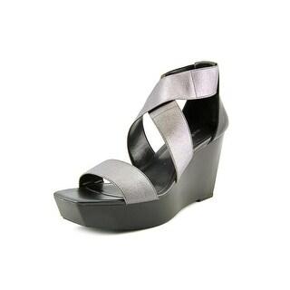 Calvin Klein Saga Women Open Toe Synthetic Wedge Heel