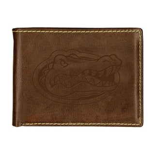 University of Florida Contrast Stitch Bifold Leather Wallet (2 options available)