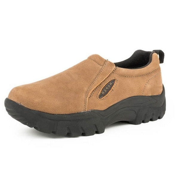 Roper Casual Shoes Womens Slip On Leather Tan