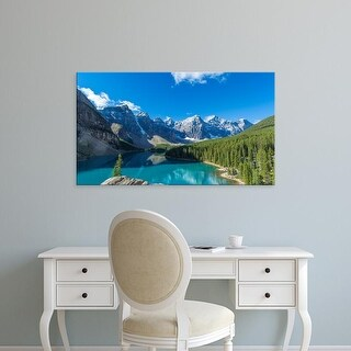 Easy Art Prints Panoramic Images's 'Moraine Lake, Banff National Park, Canadian Rockies, Alberta, Canada' Canvas Art