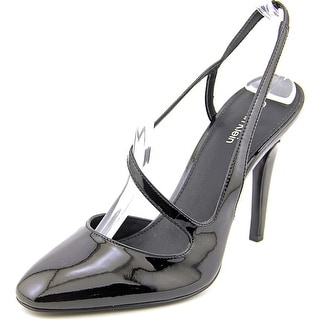 Calvin Klein Marilynn Women  Round Toe Patent Leather Black Slingback Heel