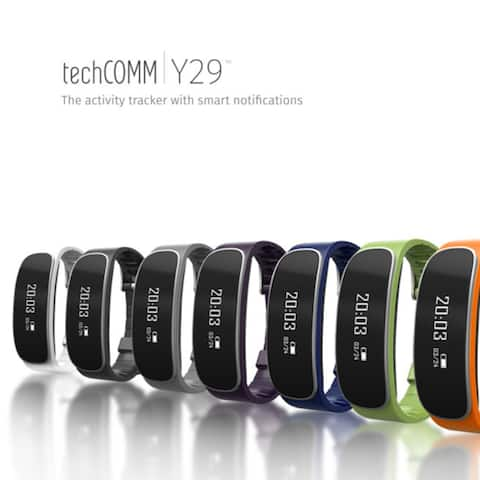 Techcomm Y29 Water-Resistant Fitness Activity Tracker Heart Rate Monitor