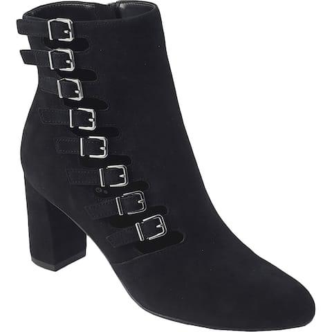 David Tate Womens Mood Dress Boots Leather Heeled - Black - 10 Narrow (AA,N)