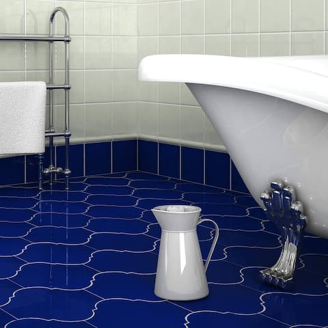 """SomerTile Mare Nostrum Provenzal Messina 10.38"""" x 11.38"""" Porcelain Floor and Wall Tile"""