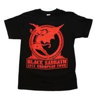 Black Sabbath Europe 75 T-Shirt