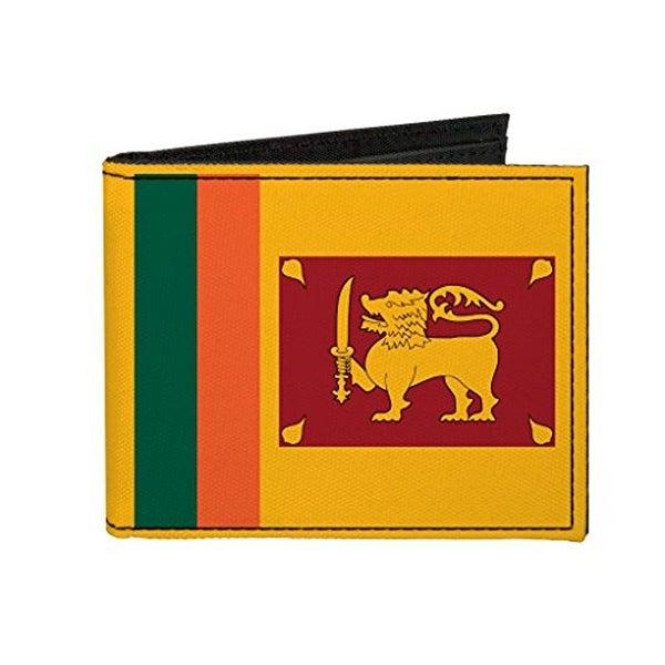 Buckle-Down Canvas Bi-fold Wallet - Sri Lanka Flag Accessory