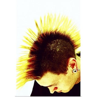 """""""Young man with mohawk"""" Poster Print"""