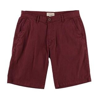 Weatherproof Magenta Red Mens Size 32 Vintage Khakis Chinos Shorts