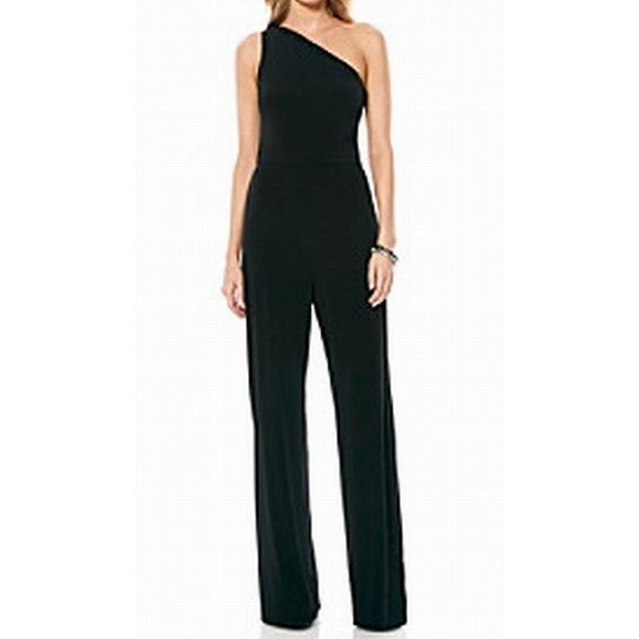 Shop Laundry by Shelli Segal NEW Black Womens Size 6 One-Shoulder Jumpsuit  - Free Shipping Today - Overstock - 20314480 da5a15b200
