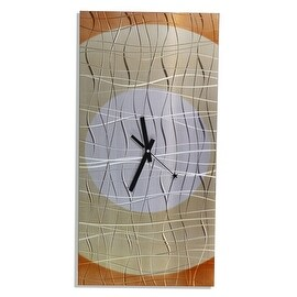 Statements2000 Copper 24-inch Metal Hanging Wall Clock - Nightfall Clock