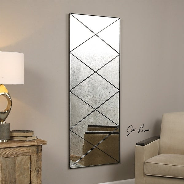 Shop 60 Quot Thin Metal Frame Accented With Diagonal Strips