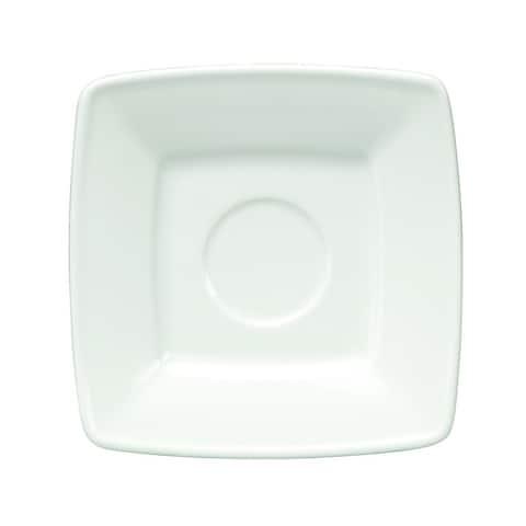 Oneida Quartet Porcelain Cappuccino Saucers (Set of 36)