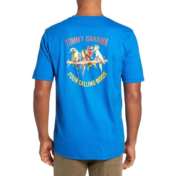 Tommy Bahama Four Calling Birds Medium Cobalt Craze T-Shirt