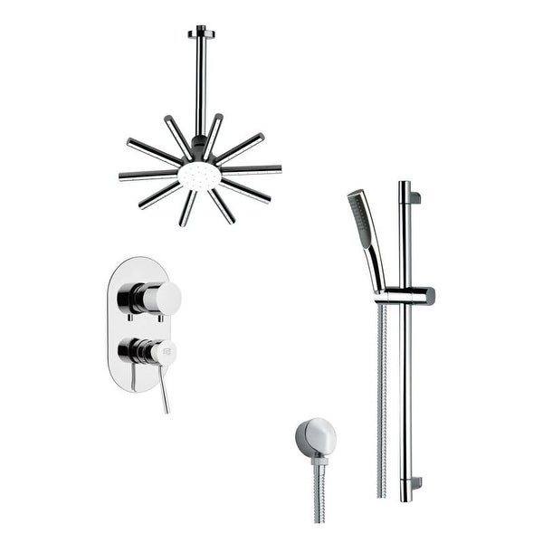 Nameeks SFR7089 Remer 2.5 GPM Multi Function Rain Shower with Handshower, Slide Bar and Rough In - Chrome